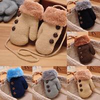 1 pair Newborn Baby Kids Winter Warm Gloves Girls Boys Stretchy Knitted Mittens