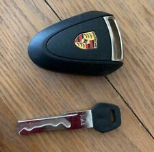 NEW AND UNCODED PORSCHE BOXSTER 987 CAYMAN 997 GENUINE 3 BUTTON KEY FOB & BLADE