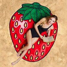 GIANT 5 FT STRAWBERRY - Beach Pool Shower Towel Blanket - BigMouth Inc.