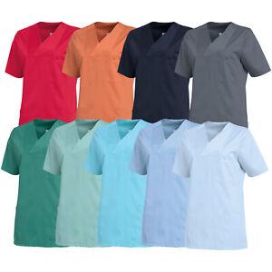 Leiber Damen Schlupfjacke Pflegerkleidung Kasack Schwesternkittel Jacke