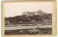 RARE BUDAPEST HUNGARY IMAGES: Set of Two European Outdoor Scenes Cabinet Cards