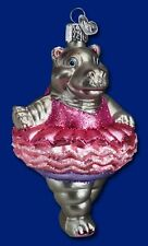 Hippo Ornament Glass Ballet Hippo Twinkle Toes Old World Christmas 12125 3
