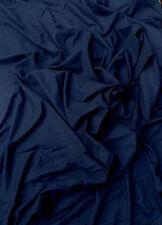 "Navy Cotton Fabric Jersey Knit Eco-Friendly by Yard 61"" W"