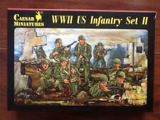 CAESAR MINIATURES 1/72 WW II U.S. INFANTRY SET II 34 FIG. TOY SOLDIERS # 071 NIB