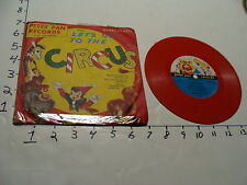 Vintage Childrens Record--LET'S GO TO THE CIRCUS