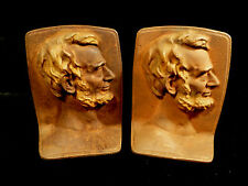 PAIR OF TURN-OF-THE-CENTURY ABRAHAM LINCOLN CAST IRON BOOK ENDS