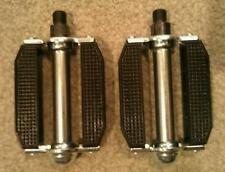 "BICYCLE BLOCK PEDALS 1/2"" BLACK, SCHWINN STINGRAY CRUISER  BMX"