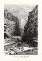Antique Print-IRAN-KELAT I NADIR-ARGHAVAN SHAH-GORGE-Reclus-Taylor-1884