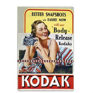 "Metal Tin Sign 8""x12"" KODAK FILM Pub Bar Home Vintage Retro Poster Cafe ART"