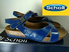 "DR SCHOLL "" BELLISSIMO SANDALO DONNA  COL. BLU  N° 37 o 40 NUOVO"""