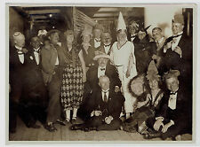 Vintage photo Group of theater actors in costumes. Bremen (1895)