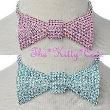 Stunning Sexy Bowtie Bow Tie Catwalk Statement Hollywood Crystal Choker Necklace