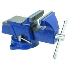 "5"" Bench Vise w/ Anvil Swivel Locking Base Tabletop Clamp Heavy Duty Steel NEW"