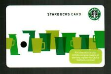 STARBUCKS Assorted Green Coffee Cups 2010 ( 6061 ) Gift Card ( $0 )