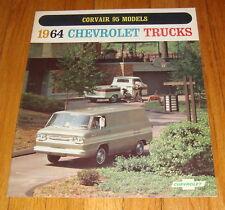 Original 1964 Chevrolet Truck Corvair 95 Models Sales Brochure Corvan Rampside