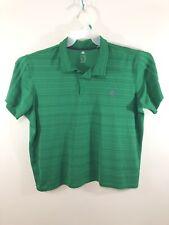 Adidas Climalite Women's Polo Golf Shirt Short Sleeve Striped Green Size Xl