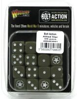 Bolt Action 408403001 Allied Star D6 Pack (16 Dice) Olive Drab WWII US British