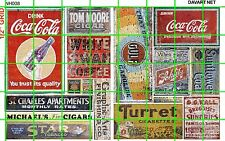 NH008 DAVE'S DECALS 1/2 Set N SCALE GHOST SIGNS COLA GAS/OIL BEER DRY GOODS MORE