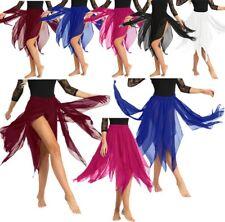 Para Mujeres Falda De Gasa Panel de danza del vientre 13 Disfraz Adulto de rendimiento Falda de baile