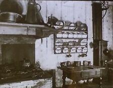 Kitchen in Goethe House, Magic Lantern Glass Slide, Frankfurt, Germany