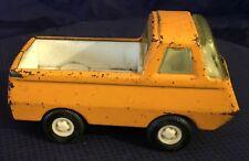 BG763 Vtg Tonka Toy Ford Econoline Pickup Truck Metal Steel Plastic Yellow White