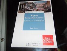 Rome: Paysage urbain et histoire. Yves Perrin