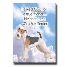 Wire Fox Terrier True Friend From God Fridge Magnet No 2