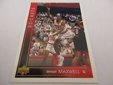 Carte NBA UPPER DECK 1993-94 #272 Vernon Maxwell Houston Rockets