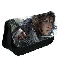 Lara Croft Tomb Raider Black Canvas Pencil Case, Make-Up Bag