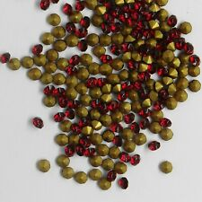 451176 *** 30 STRASS ANCIENS FOND CONIQUE ROUGE 4mm