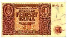 Croatia ... P-1 ... 50 Kuna ... 26.5.1941 ... Ch*XF+*