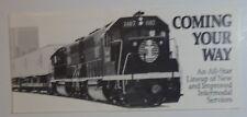 Illinois Central Railroad 1989 Brochure - Intermodal Service & Timetable