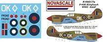 RAAF P-40K Kittyhawk Mini-Set Decals 1/48 Scale N48017a