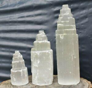 Selenite Mountain/Tower Crystal 5,10,15cm Meditation Chakra Spirituality Healing