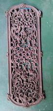 Alte Ofenplatte aus Gusseisen mit Ornamenten, sehr gut erhalten ca. 81 x 28 cm