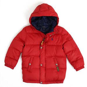 Polo Ralph Lauren Kids Down Puffer Jacket Coat - Red - sizes (2-7)