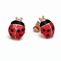 Red Ladybird Earrings , Vintage Rockabilly 1950's Kitsch Cute UK