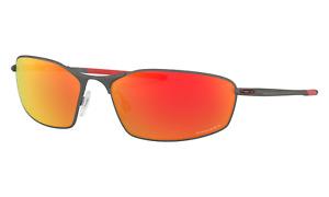 Oakley WHISKER Sunglasses OO4141-0260 Matte Gunmetal Frame W/ PRIZM Ruby Lens