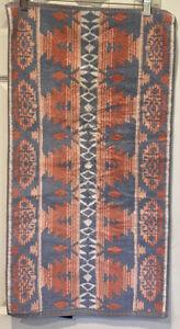 Vintage Ralph Lauren Aztec Southwest Hand Towel Geometric Tribal Blue Pink USA
