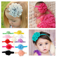 11pcs Elastic Newborn Girls Baby Headband Flower Hair Band Headdress Infant Kids
