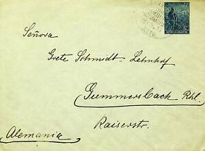 ARGENTINA 12c ON GERMAN HAMBURG - SOUTH AMERICA LINE COVER TO GERMANY