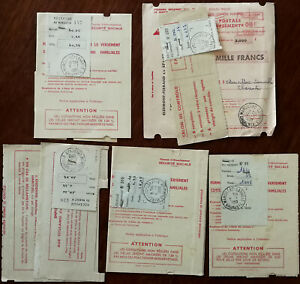 France Vintage Social Security Payment Receipts x 5 1959 & 1960