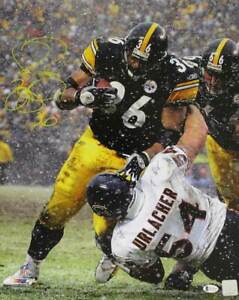 Jerome Bettis Autographed/Signed Pittsburgh Steelers 16x20 Photo BAS 30553