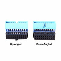 Up Down Angled 90 Degree USB 3.0 20pin Male to Female Extension Adapter