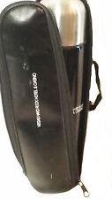 Travel Mug Vegas Hard Rock Hotel Thermos Black Silver 16 oz Zipper case Straps
