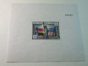 Foreign Souvenir Sheets Spain Scott# 585c Statue of Liberty 1938 MH (note) H121
