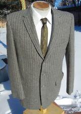 New listing Vintage 1950s Striped Woolen Sport Coat 40R Slim Flannel Jacket Strong Shoulders