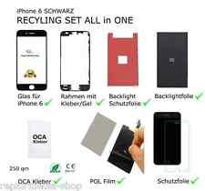 iPhone 6 4,7 DISPLAY DIGITIZER RECYCLING REPARATUR SET RAHMEN POL BACKLIGHT
