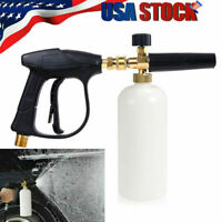 "1/4"" Pressure Snow Foam Washer Jet Car Wash Lance Soap Spray Cannon With Gun New"