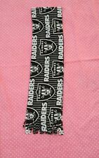 NFL OAKLAND RAIDERS  HANDMADE FLEECE SCARF  APPROX 60 X 6 UNISEX  BLACK